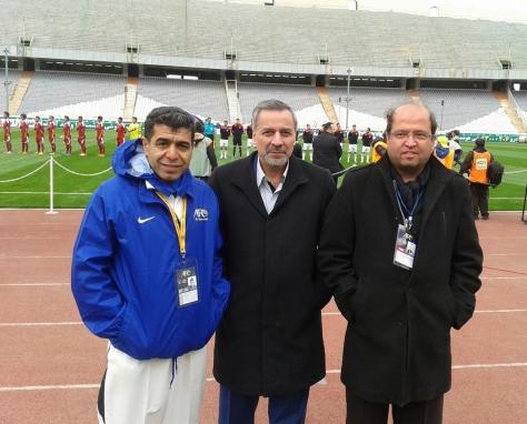 حضور مسئولین هیات فوتبال در مسابقات مقدماتی المپیک