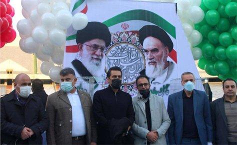 مراسم گرامیداشت روز 22 بهمن در ورزشگاه آزادی برگزار شد