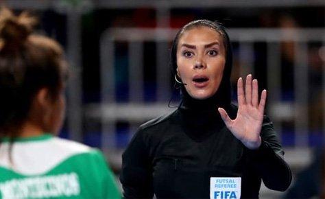 گلاره ناظمی قاضی نیمه نهایی جام ملت های اروپا