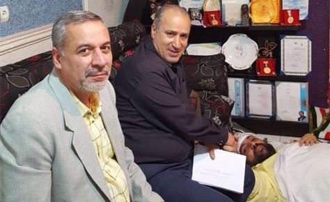 مهندس تاج و دکتر شیرازی از دکتر سعید حق وردی عیادت کردند