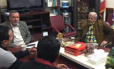 جلسه دکتر شیرازی و محمد فنایی در هیئت فوتبال