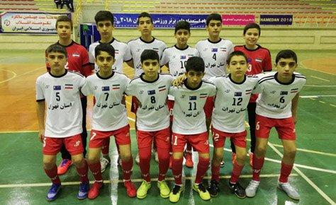 تهران در جمع 4 تیم برتر المپیاد فوتسال کشور