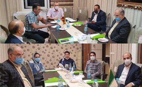جلسه رئیس و دبیر هیات با روسای حوزه ها در خصوص مسابقات فصل 99