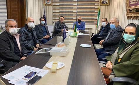 جلسه رئیس و دبیر هیات فوتبال با رؤسای حوزه های تهران