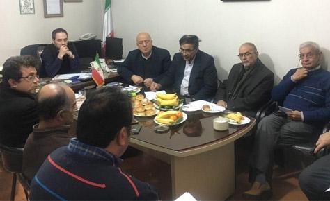 جلسه هیأت مدیره جمعیت حامیان هواداران با رئیس کمیته انضباطی