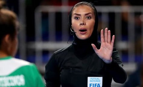 داور زن ایرانی در بین 10 داور برتر فوتسال جهان