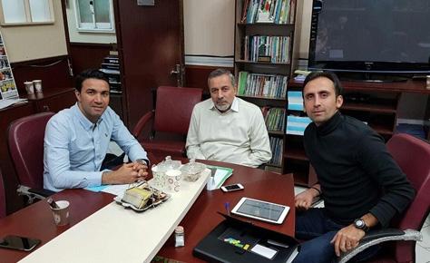 دیدار جواد نکونام با دکتر شیرازی در خصوص توسعه فوتبال پایه