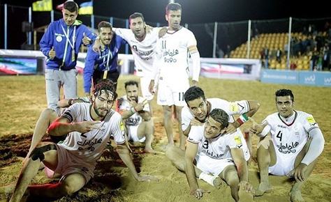 ایران با پیروزی مقابل ایتالیا قهرمان پرشین کاپ فوتبال ساحلی شد