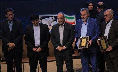 تجلیل ار هیات فوتبال استان تهران در مراسم اینده سازان ورزش ا...