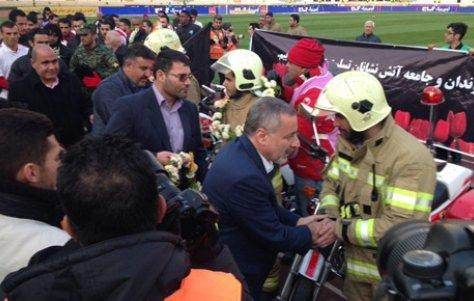 مراسم ویژه تجلیل از آتش نشانان قهرمان در آزادی برگزار شد