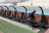 سومین مرحله ضدعفونی کردن ورزشگاه آزادی برای دیدار استقلال و ...