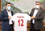 برگزاری نشست صمیمانه رئیس فدراسیون با شهردار تهران