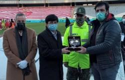تجلیل از عکاس فقید ورزشی پیش از مسابقه پرسپولیس و فولاد