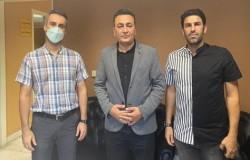 نشست دبیرهیات با حسین بادامکی رئیس هیات فوتبال مشهد