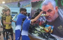 اداى احترام تیم های تهران به سردار شهید قاسم سلیمانى